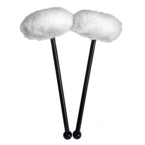 acoustIQ Grand Slam Tenor Drum Mallets (White)